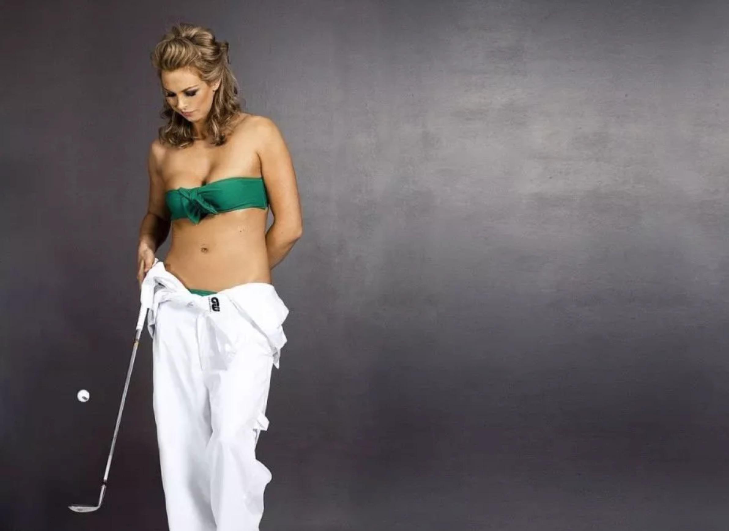 高尔夫,性感女神的代名词!